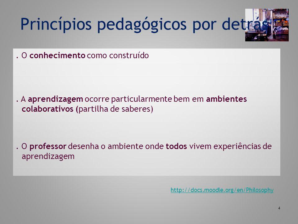 Princípios pedagógicos por detrás