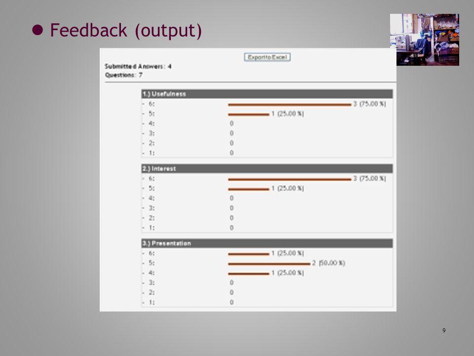  Feedback (output)