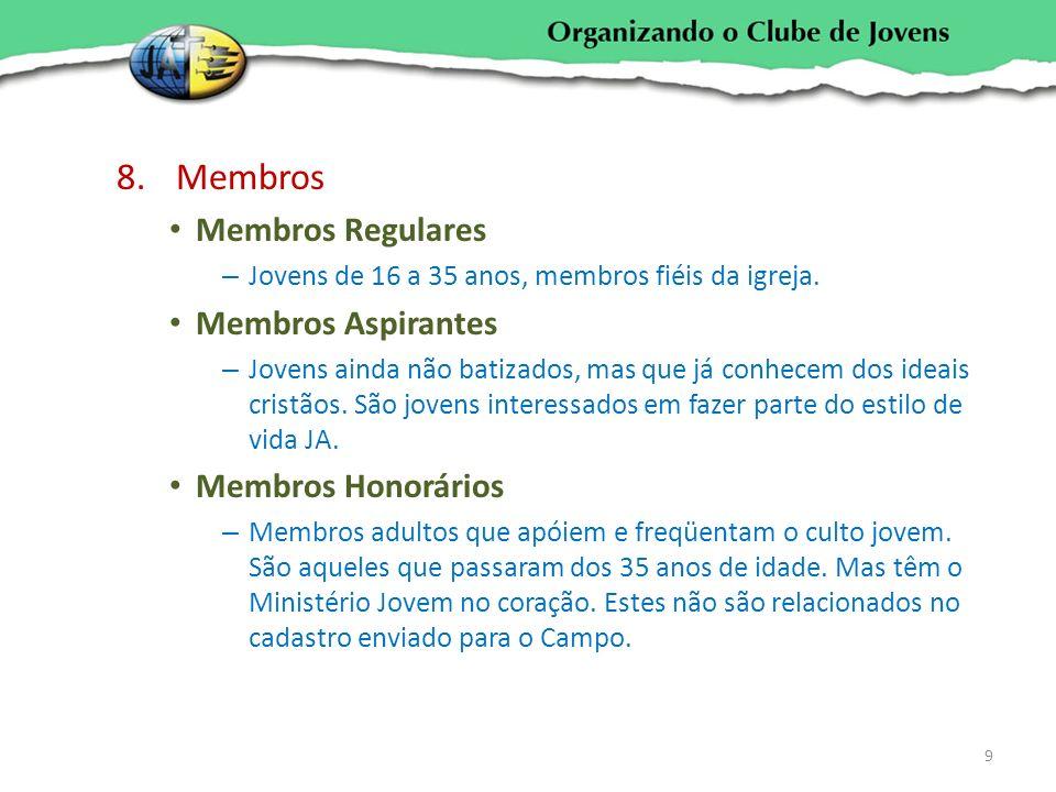 Membros Membros Regulares Membros Aspirantes Membros Honorários