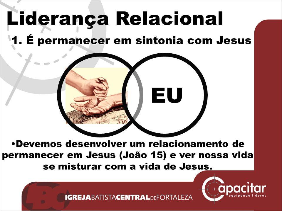 EU Liderança Relacional 1. É permanecer em sintonia com Jesus