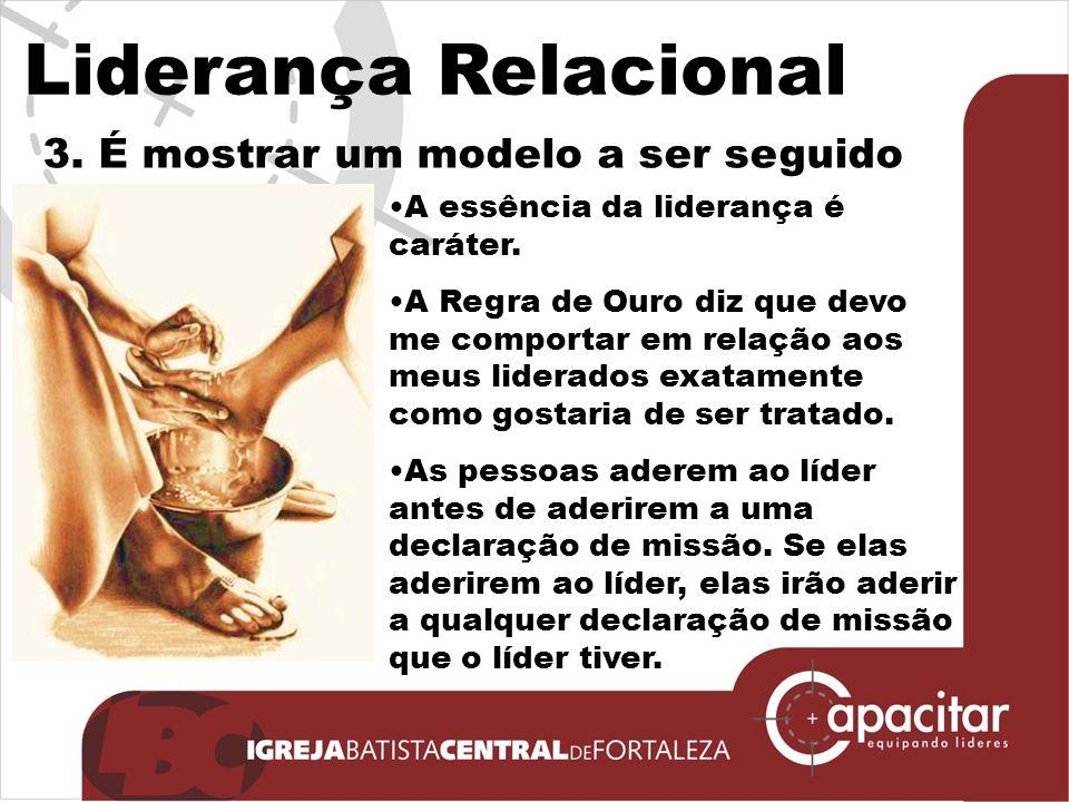 Liderança Relacional 3. É mostrar um modelo a ser seguido