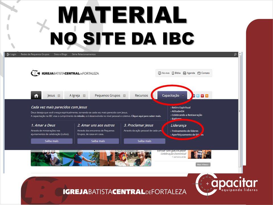 MATERIAL NO SITE DA IBC