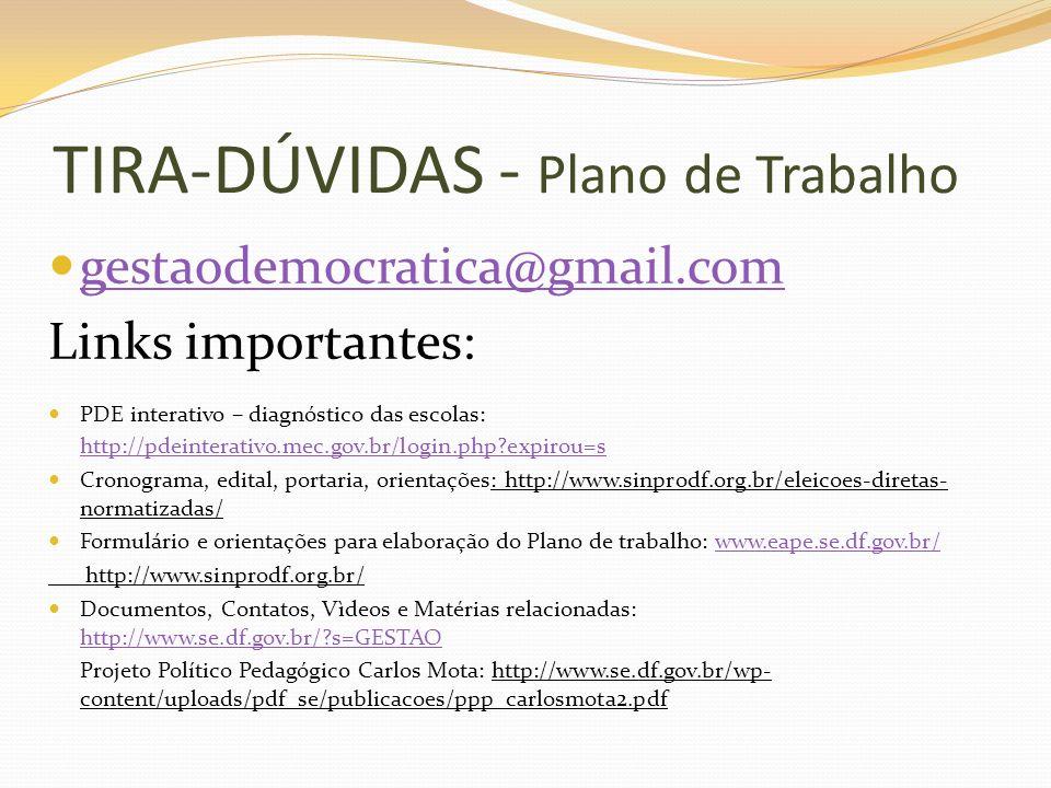 TIRA-DÚVIDAS - Plano de Trabalho