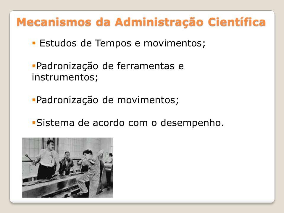 Mecanismos da Administração Científica