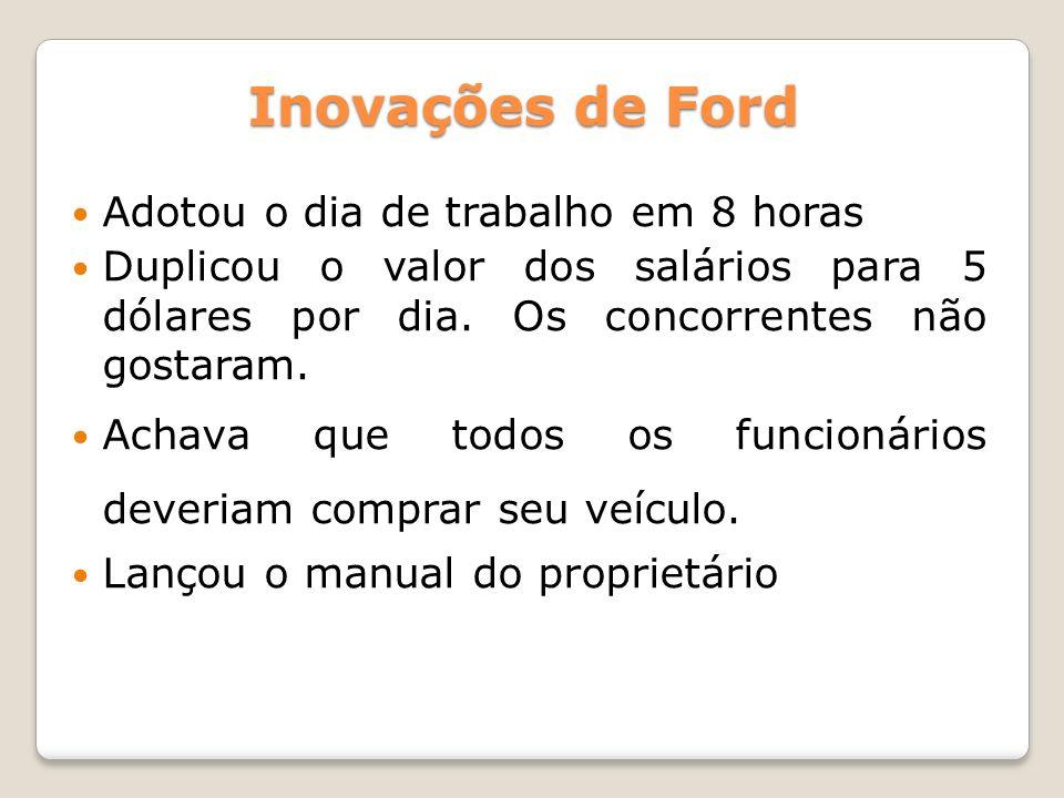 Inovações de Ford Adotou o dia de trabalho em 8 horas