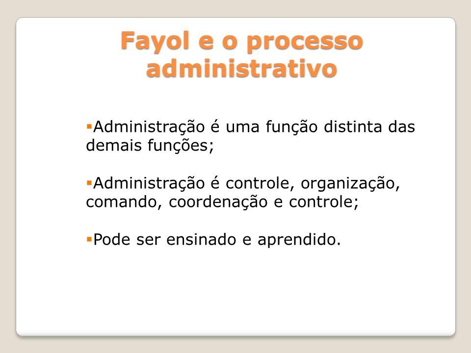 Fayol e o processo administrativo