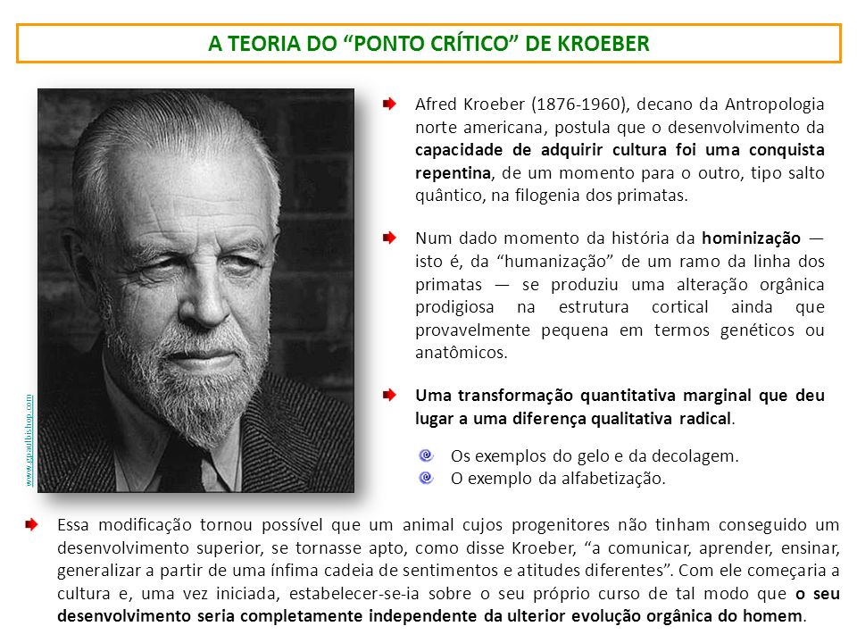 a Teoria do Ponto Crítico de kroeber