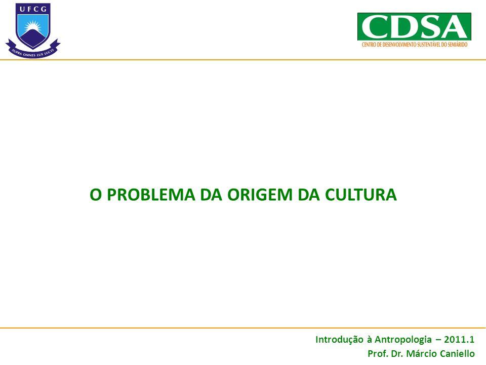 O problema da origem da cultura