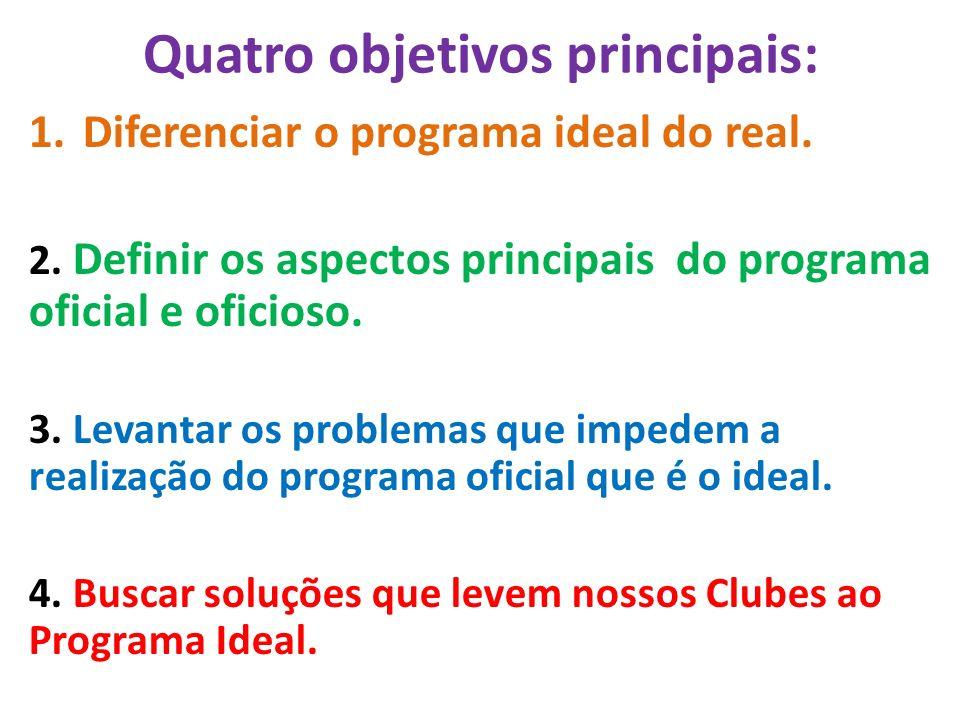 Quatro objetivos principais: