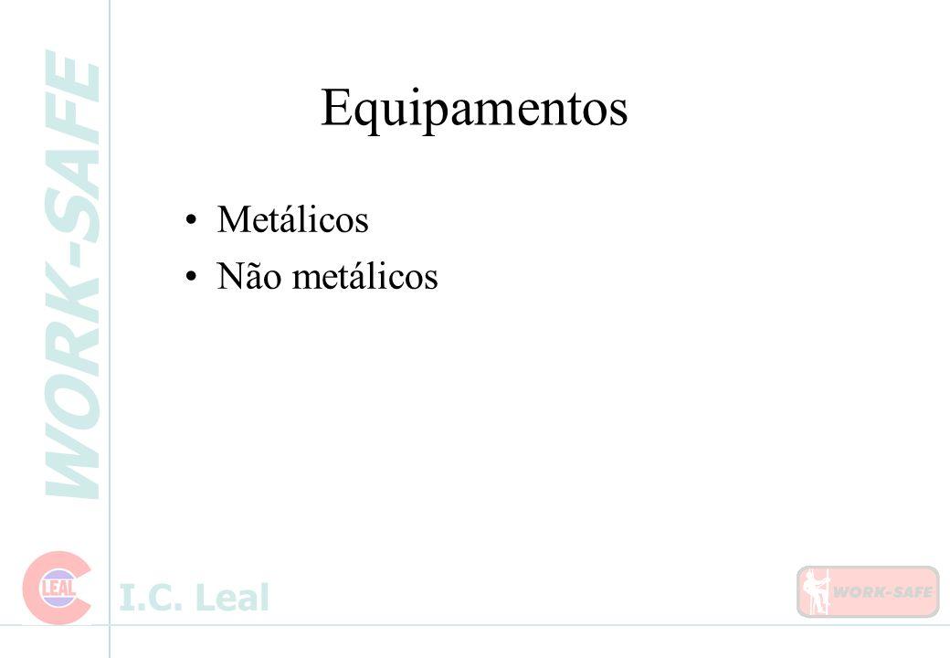 Equipamentos Metálicos Não metálicos 01/06/99 Slides dos equipamentos