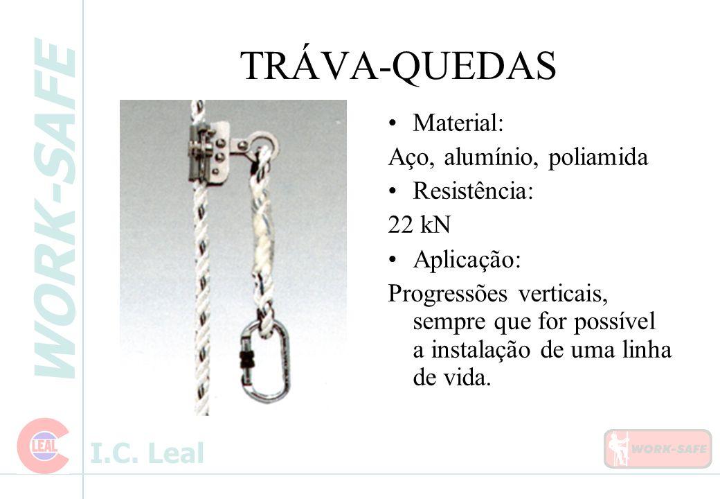TRÁVA-QUEDAS Material: Aço, alumínio, poliamida Resistência: 22 kN