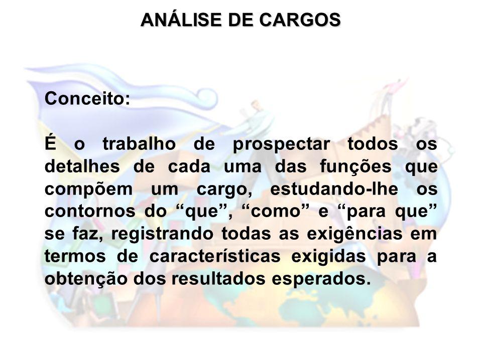 ANÁLISE DE CARGOS Conceito: