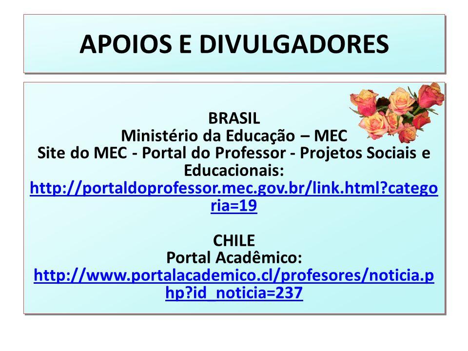 APOIOS E DIVULGADORES BRASIL Ministério da Educação – MEC