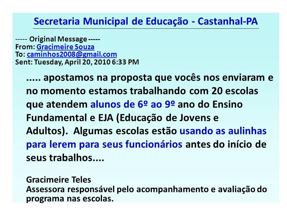 Secretaria Municipal de Educação - Castanhal-PA