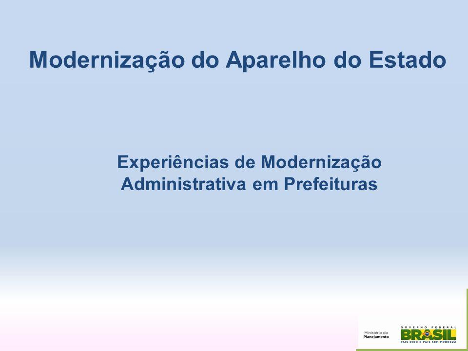 Experiências de Modernização Administrativa em Prefeituras
