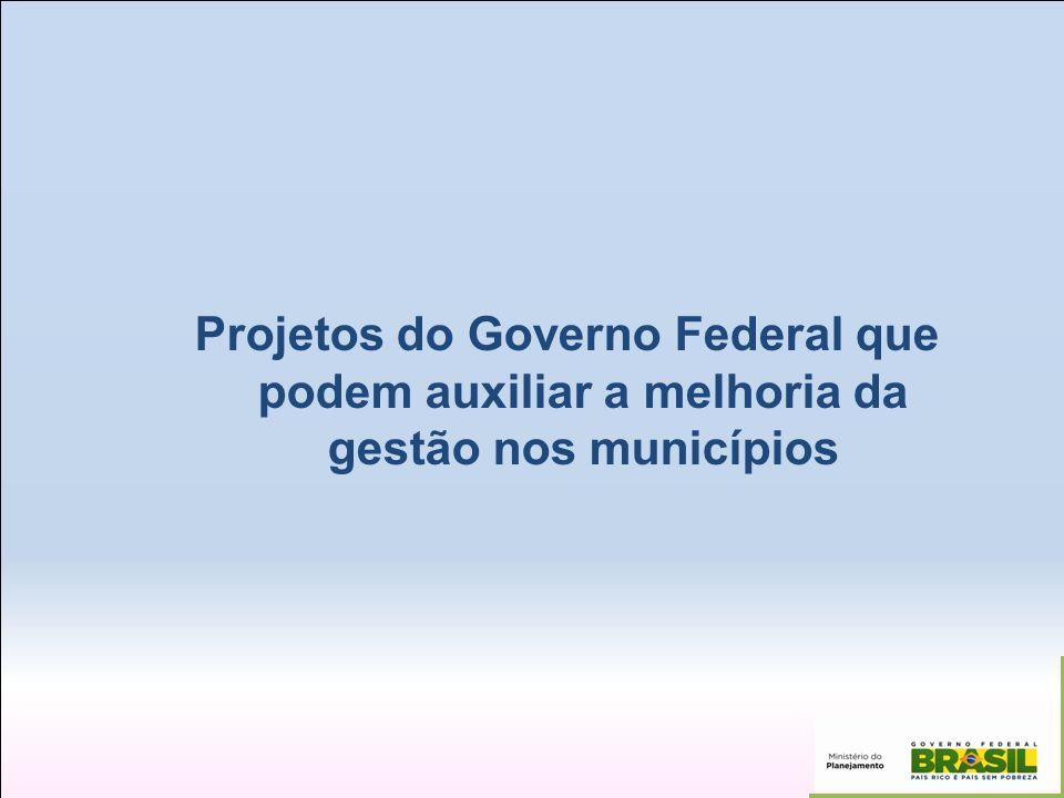 Projetos do Governo Federal que podem auxiliar a melhoria da gestão nos municípios