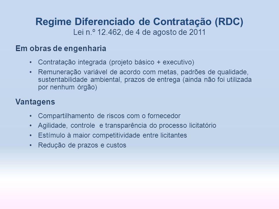 Regime Diferenciado de Contratação (RDC) Lei n. º 12