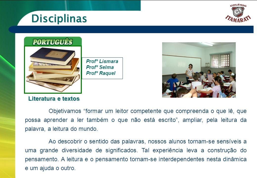Disciplinas Literatura e textos