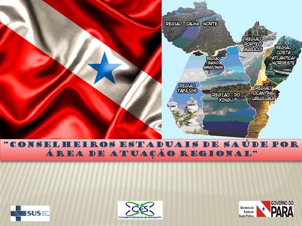 Conselheiros Estaduais de Saúde por Área de Atuação Regional