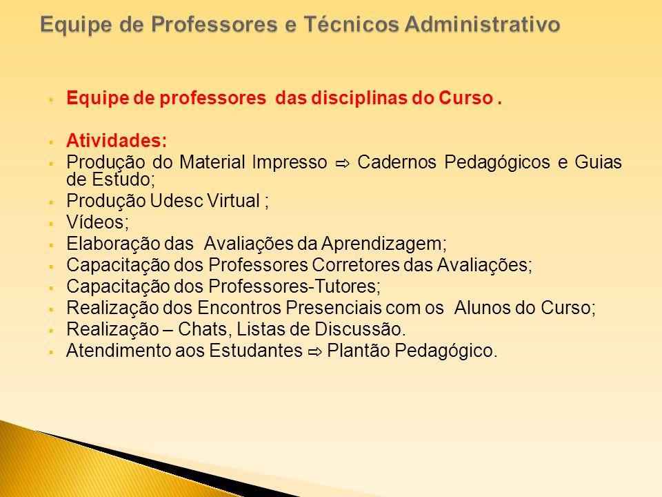 Equipe de Professores e Técnicos Administrativo