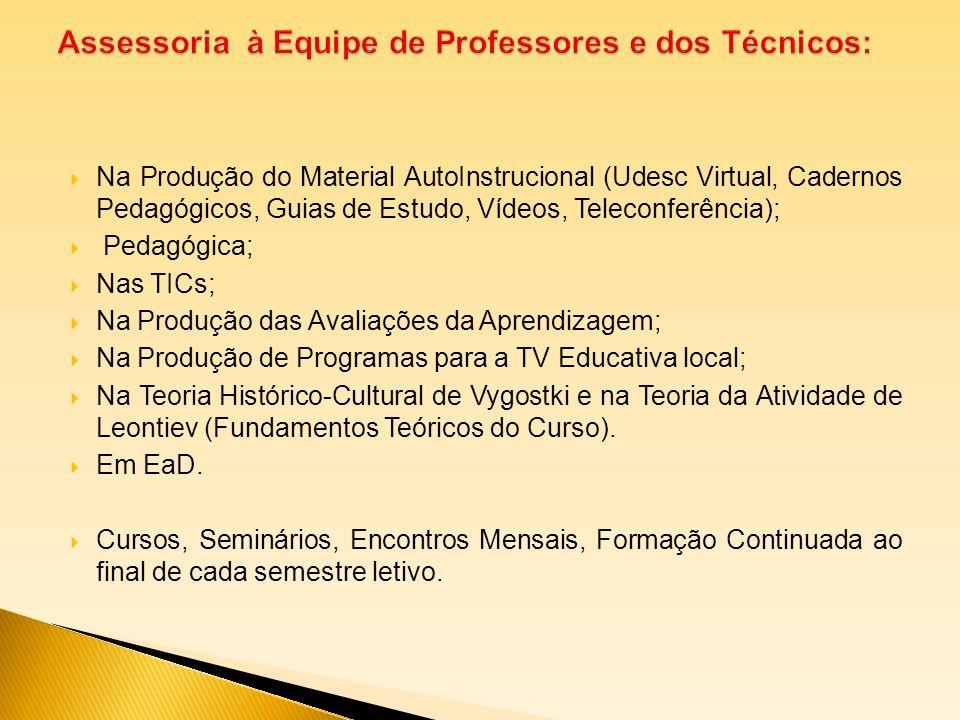 Assessoria à Equipe de Professores e dos Técnicos: