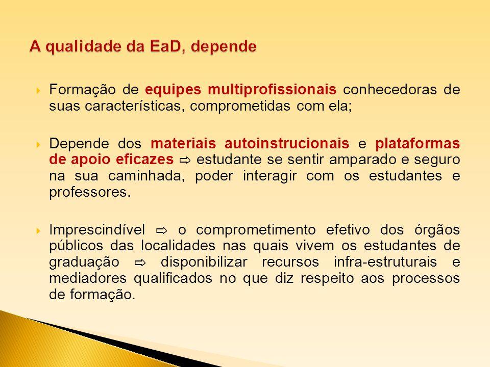 A qualidade da EaD, depende