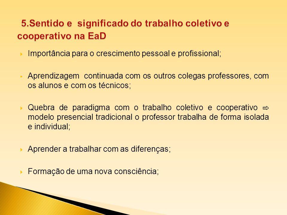 5.Sentido e significado do trabalho coletivo e cooperativo na EaD