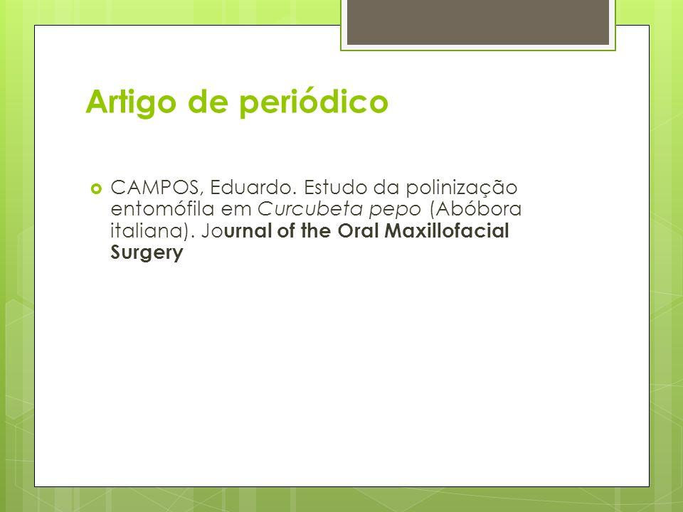 Artigo de periódico CAMPOS, Eduardo.