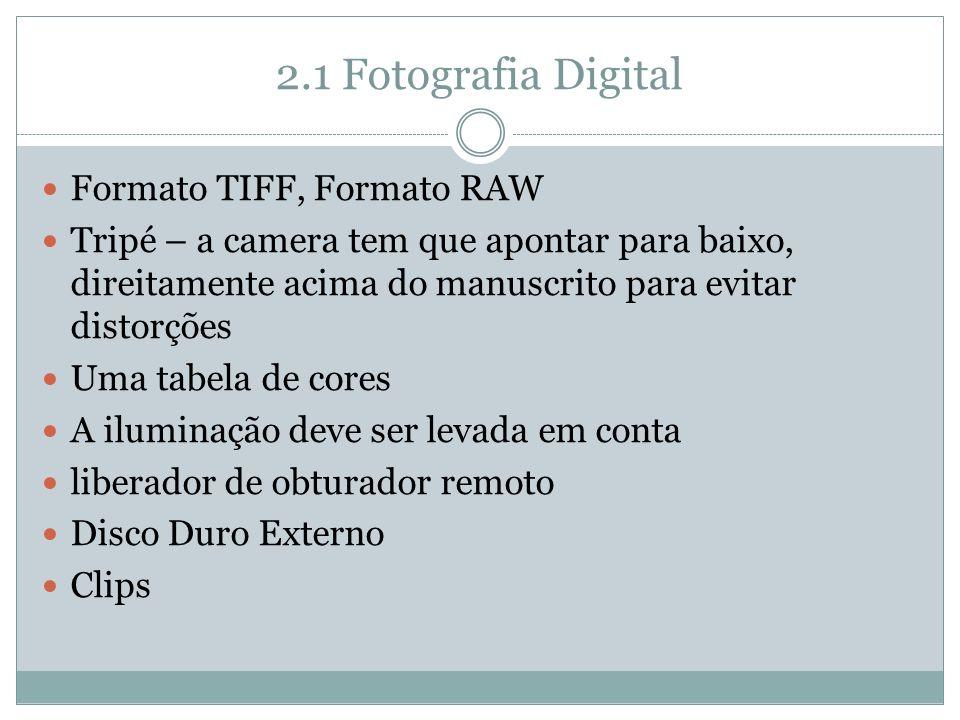 2.1 Fotografia Digital Formato TIFF, Formato RAW