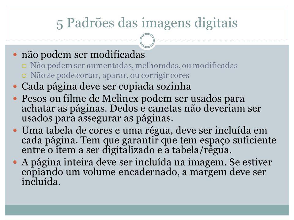 5 Padrões das imagens digitais