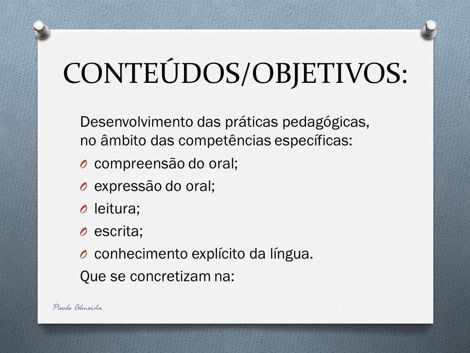 CONTEÚDOS/OBJETIVOS: