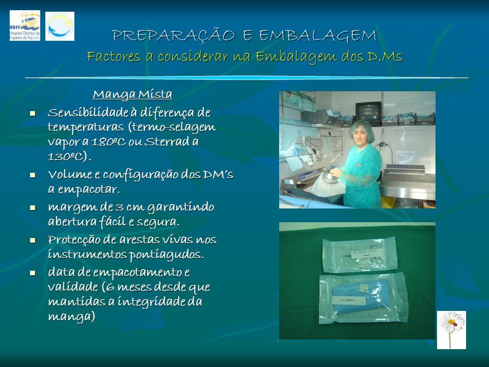 PREPARAÇÃO E EMBALAGEM Factores a considerar na Embalagem dos D.Ms