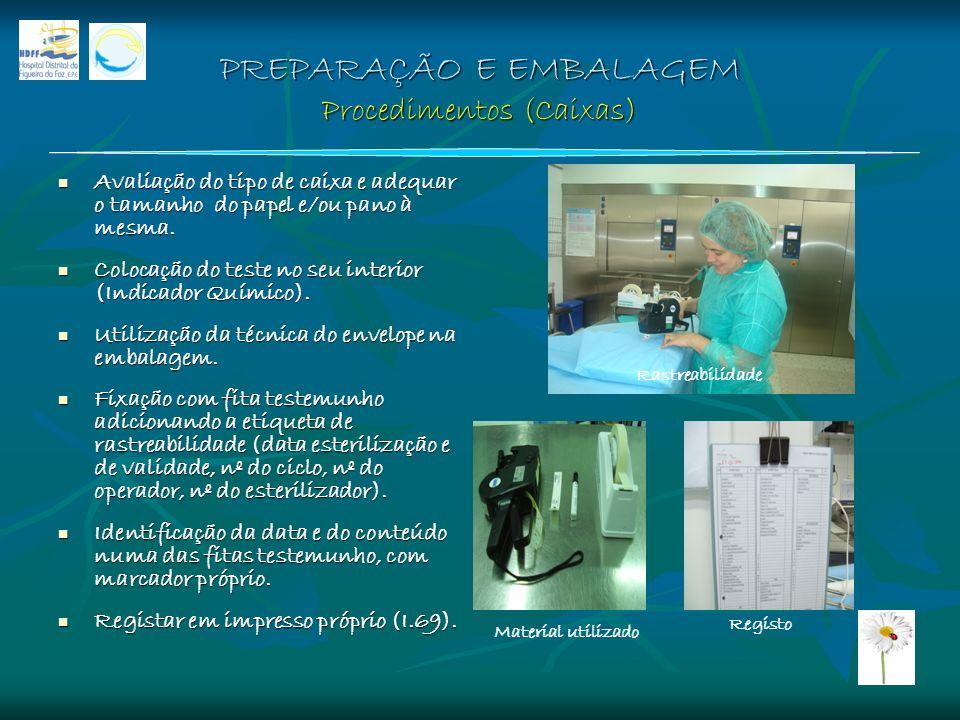 PREPARAÇÃO E EMBALAGEM Procedimentos (Caixas)