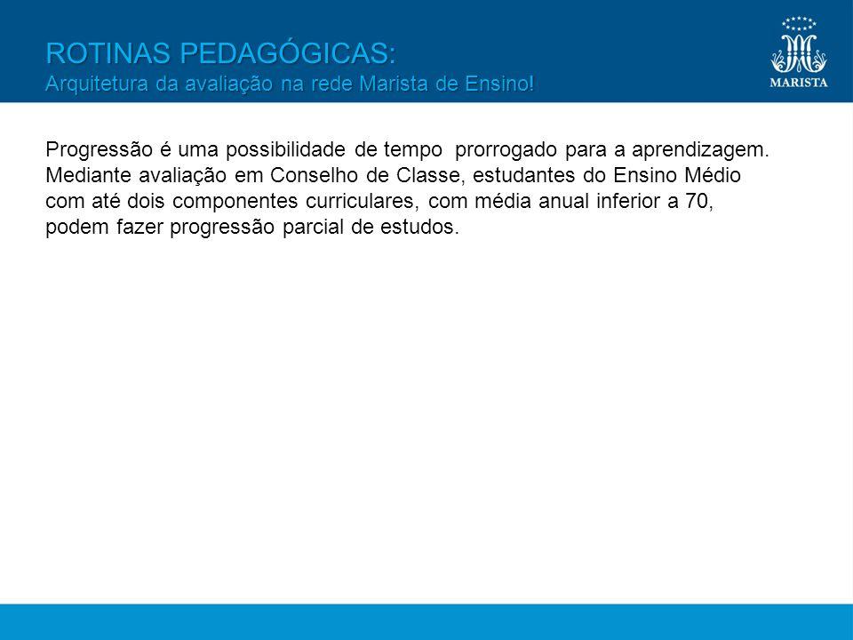 ROTINAS PEDAGÓGICAS: Arquitetura da avaliação na rede Marista de Ensino!