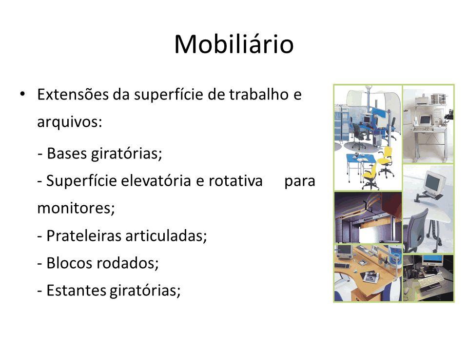 Mobiliário Extensões da superfície de trabalho e arquivos: