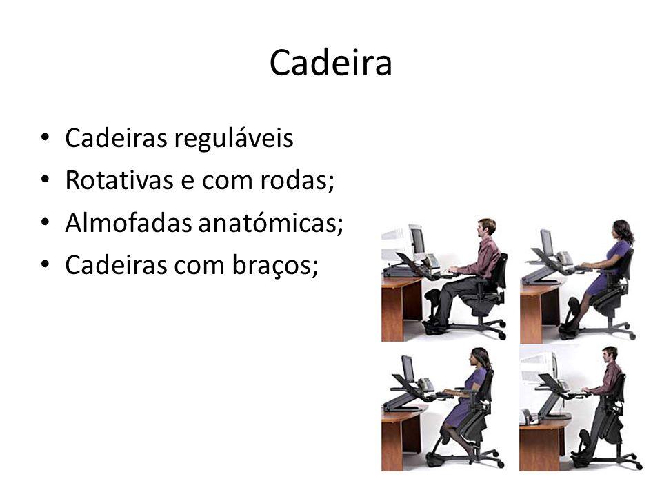 Cadeira Cadeiras reguláveis Rotativas e com rodas;