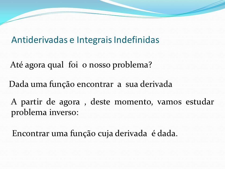 Antiderivadas e Integrais Indefinidas