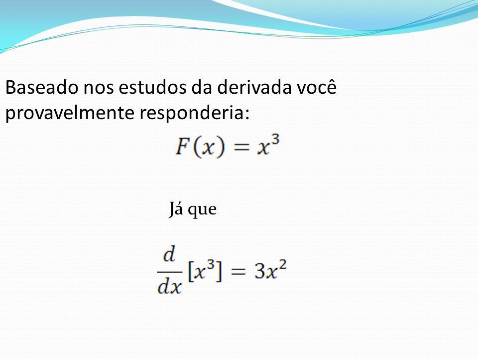 Baseado nos estudos da derivada você provavelmente responderia: