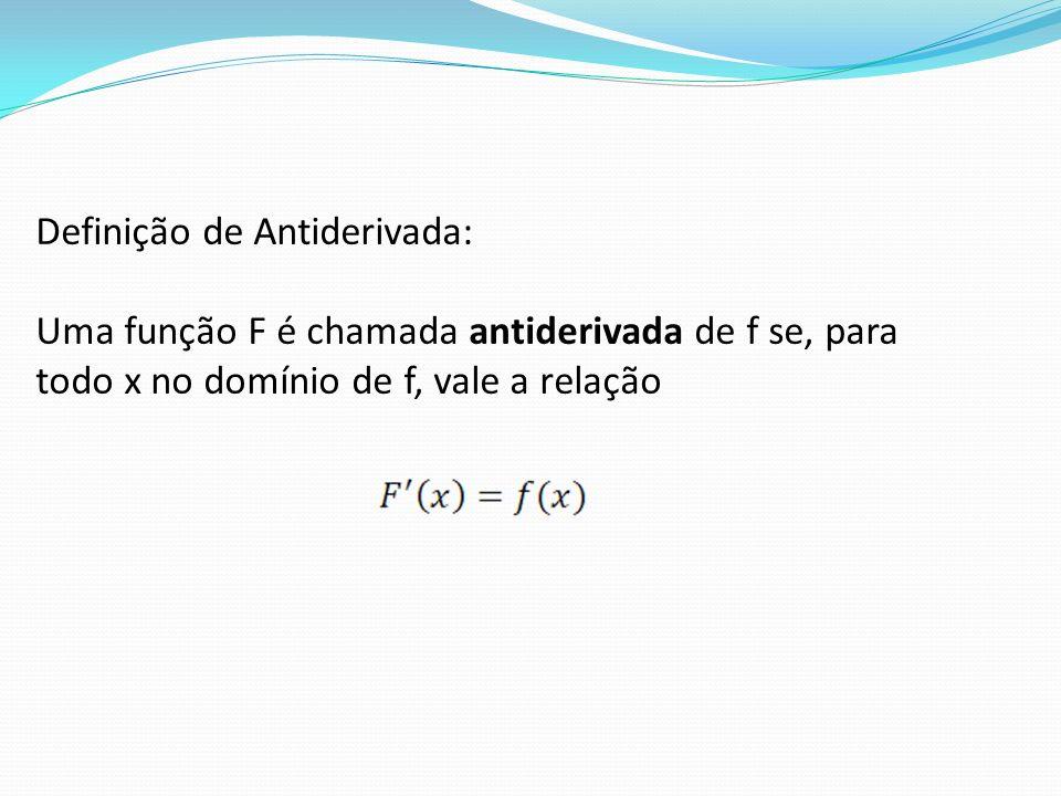 Definição de Antiderivada: