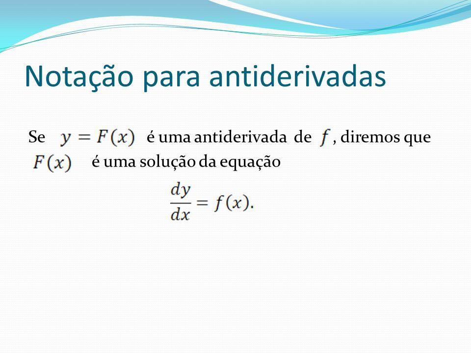 Notação para antiderivadas