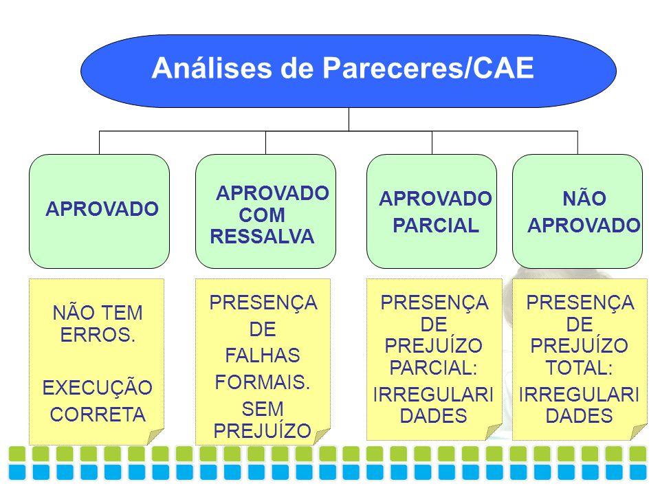 Análises de Pareceres/CAE