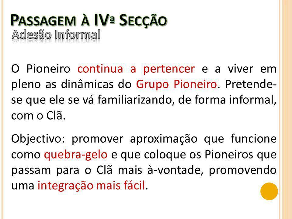 Passagem à IVª Secção Adesão Informal