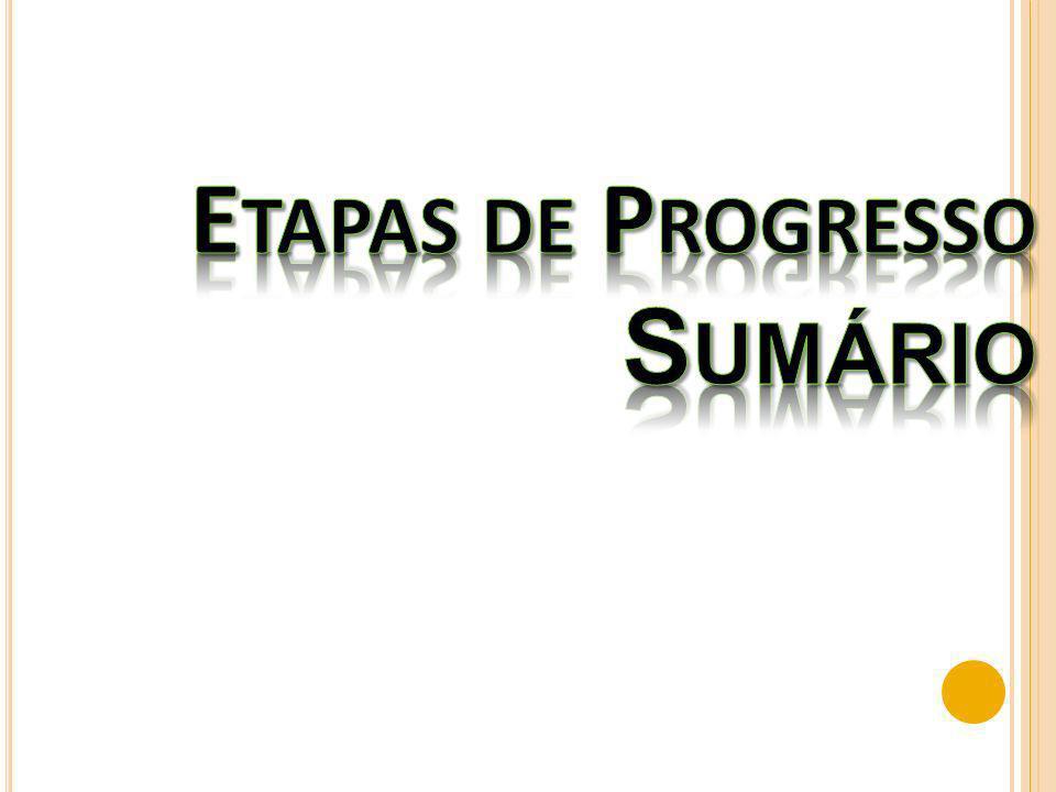 Etapas de Progresso Sumário