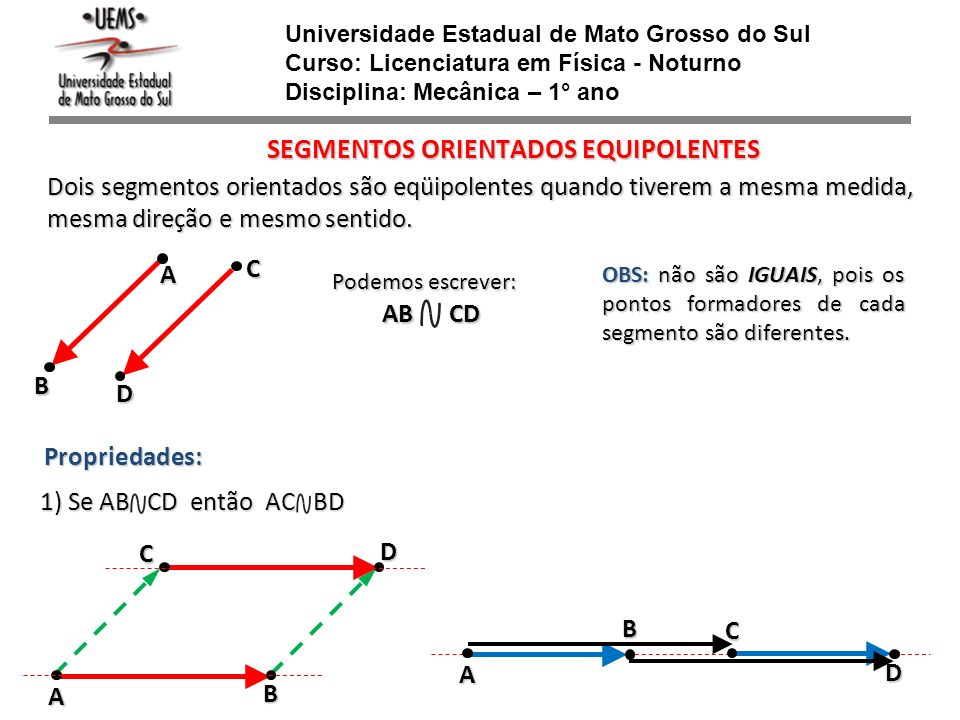 SEGMENTOS ORIENTADOS EQUIPOLENTES