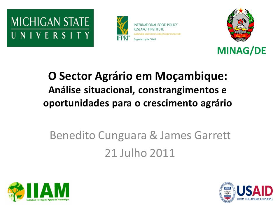 Benedito Cunguara & James Garrett 21 Julho 2011