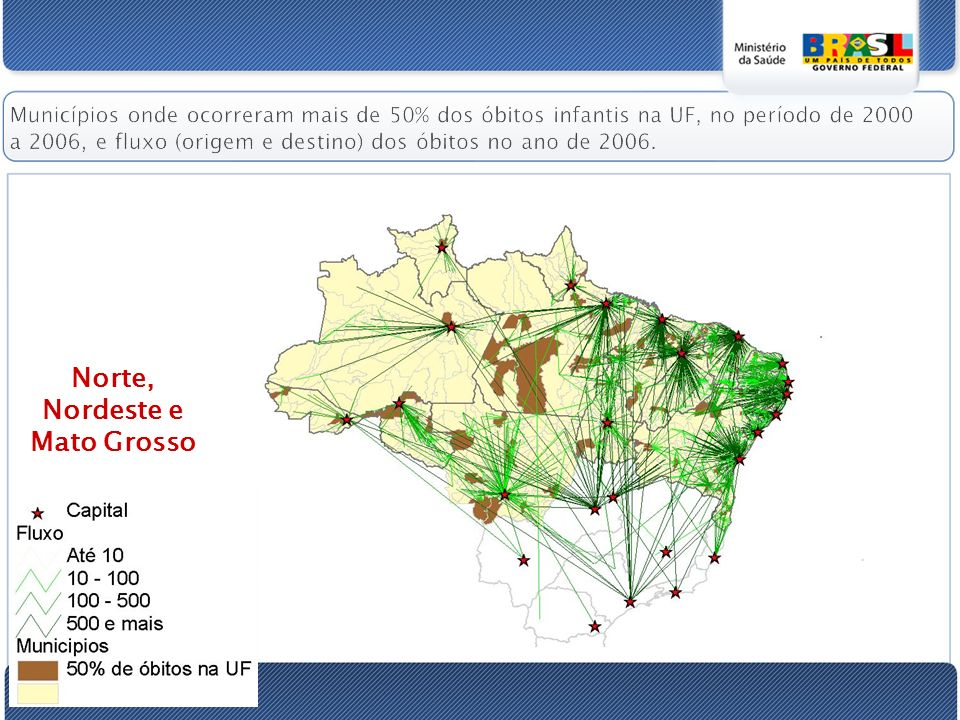 Norte, Nordeste e Mato Grosso