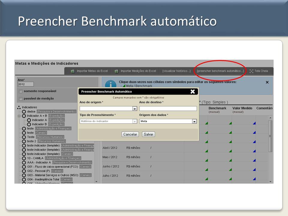 Preencher Benchmark automático