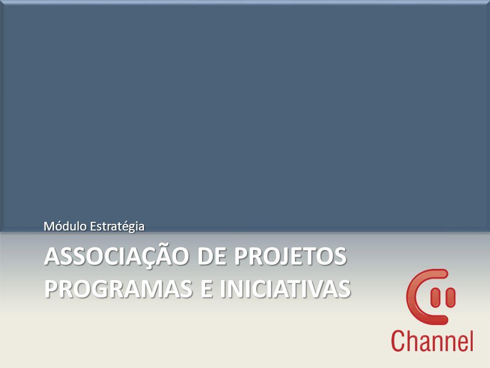 Associação de projetos programas e iniciativas