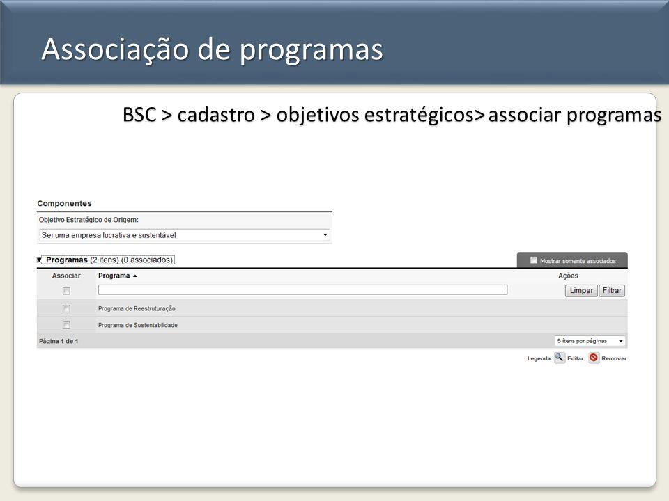 Associação de programas