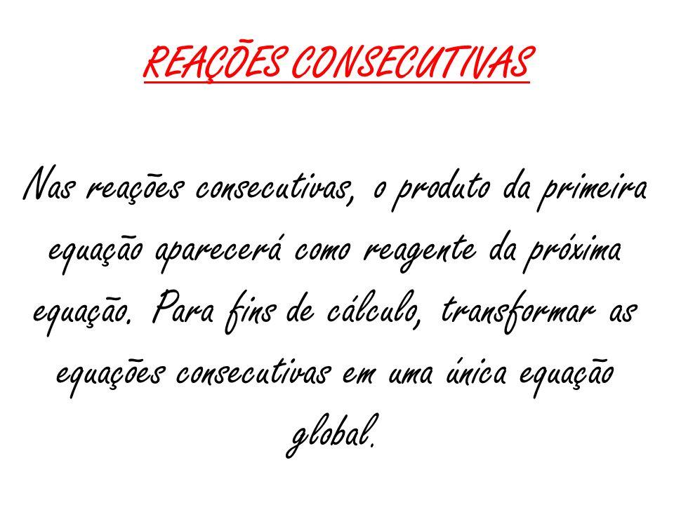 REAÇÕES CONSECUTIVAS